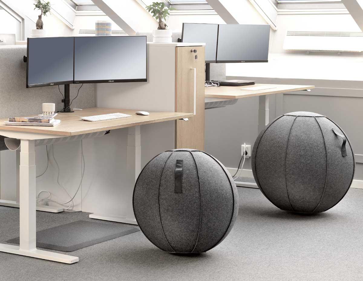 Office Duo 65 cm Paket med matta