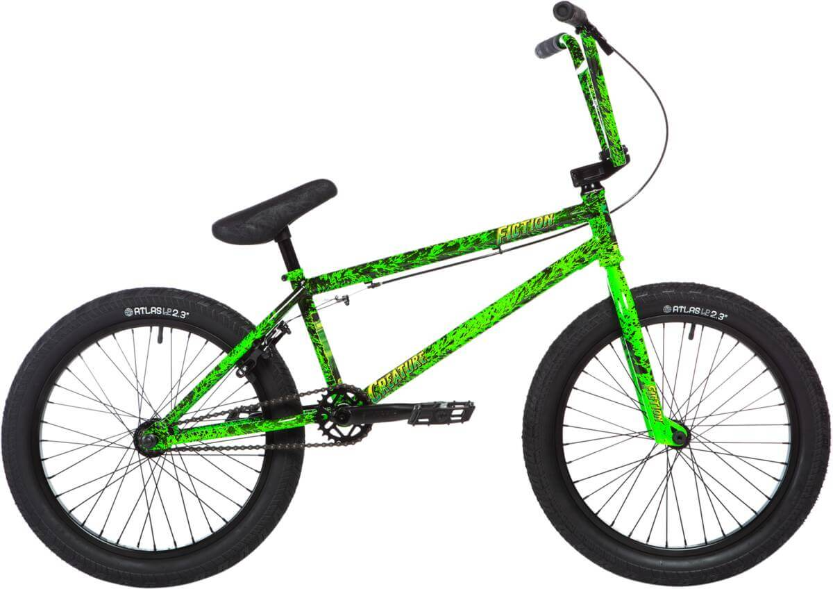 Stolen X Fiction Creature 20 2020 Freestyle BMX Cykel 21 Toxic Green Splatter